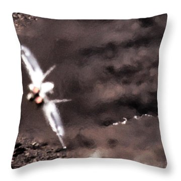 Thrust Throw Pillow by Angel  Tarantella