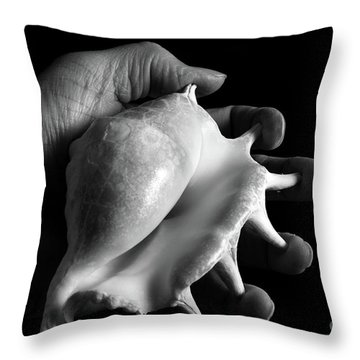 Throw Pillow featuring the photograph Touch Series - Shells by Nicholas Burningham
