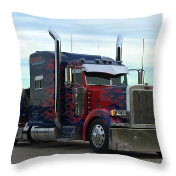Transformers Optimus Prime Tow Truck Throw Pillow