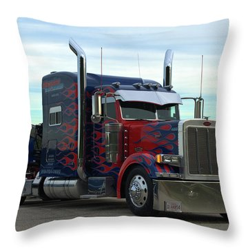 Transformers Optimus Prime Tow Truck Throw Pillow