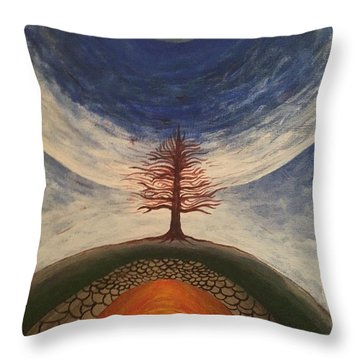 Tree Throw Pillow by Steve  Hester