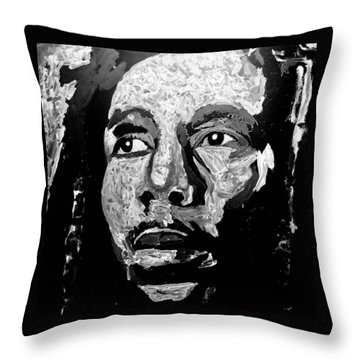 Tribute To Bob Marley Throw Pillow