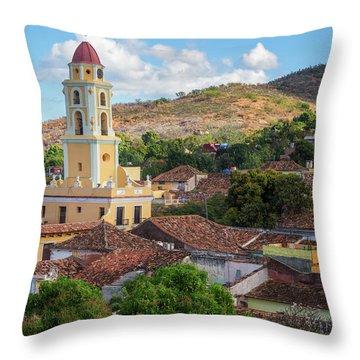 Throw Pillow featuring the photograph Trinidad Cuba Cityscape II by Joan Carroll