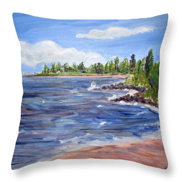 Trixies Cove Throw Pillow