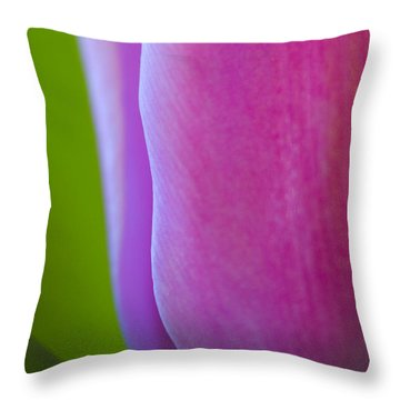 Tulip Throw Pillow by Silke Magino