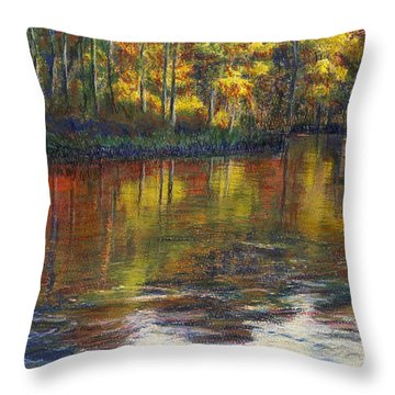 Turkey Creek Nature Trail Throw Pillow by Randy Sprout