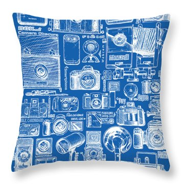 Types Of Photo Cameras Throw Pillow