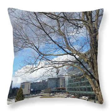Umass Medical Center Throw Pillow