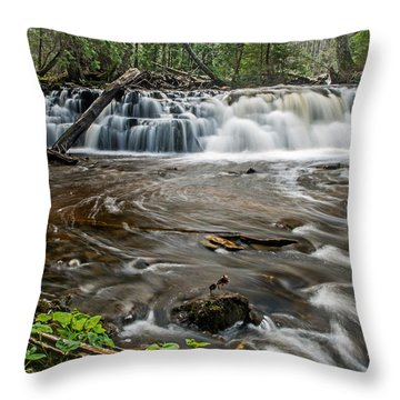 Upper Mosquito Falls Throw Pillow