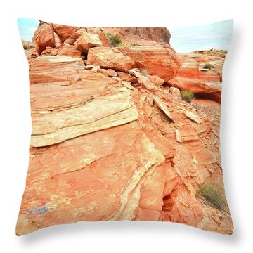 Valley Of Fire High Country Throw Pillow