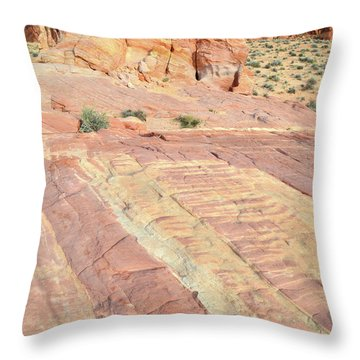 Throw Pillow featuring the photograph Valley Of Fire Rainbow by Ray Mathis