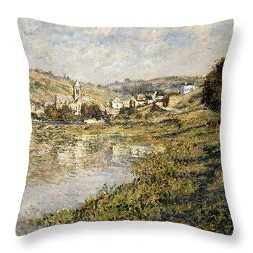 Vetheuil Throw Pillow by Claude Monet