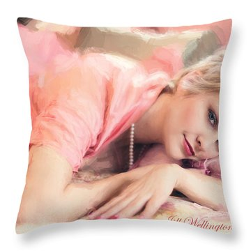 Vintage Val Bedroom Dreams Throw Pillow