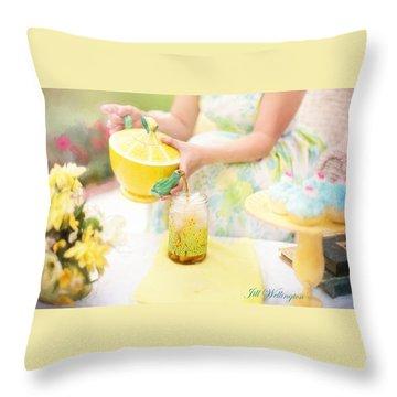 Vintage Val Iced Tea Time Throw Pillow