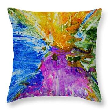 Volcano Throw Pillow by Lori Kingston