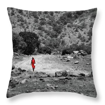 Throw Pillow featuring the photograph Walk  by Charuhas Images