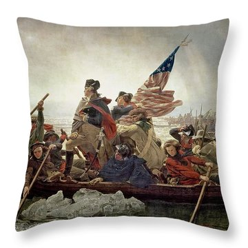 Washington Crossing The Delaware River Throw Pillow