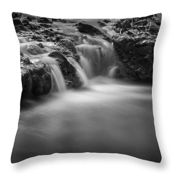 Waterfall  Throw Pillow by Scott Meyer