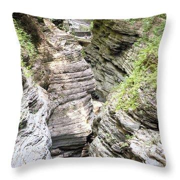 Watkins Glen New York Throw Pillow