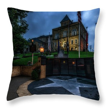 Throw Pillow featuring the photograph Webster County Courthouse by Thomas R Fletcher