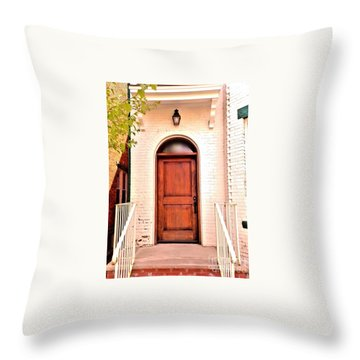 Throw Pillow featuring the photograph Welcome Home by Becky Lupe