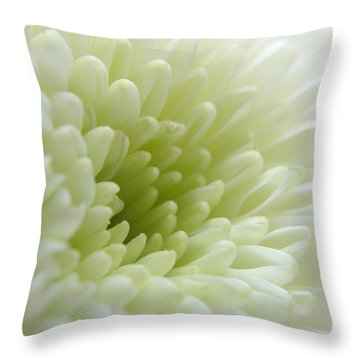 White Chrysanthemum Throw Pillow