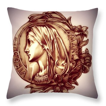 White Lilly Of The Virgin Mary Throw Pillow by Fred Larucci