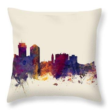 Wichita Kansas Skyline Throw Pillow