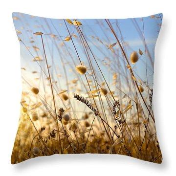 Wild Spikes Throw Pillow by Carlos Caetano