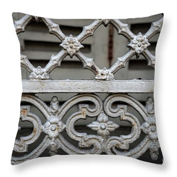 Throw Pillow featuring the photograph Window Grill In Toulouse by Elena Elisseeva