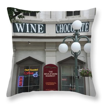 Wine And Chocolate Throw Pillow