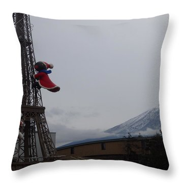 Winter Amusement Park Throw Pillow