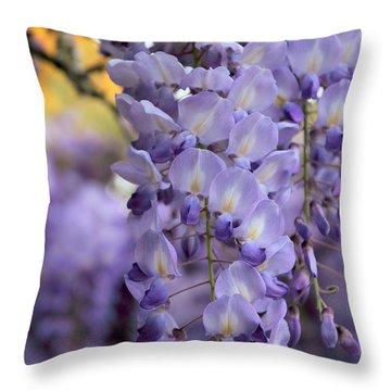 Wisteria Blossom Throw Pillow