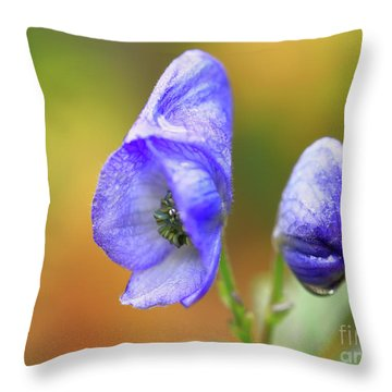 Throw Pillow featuring the photograph Wolf's Bane Flower by Nick Biemans