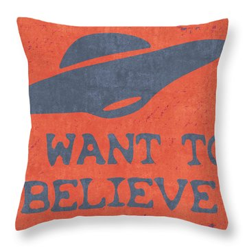 X Files I Want To Believe Throw Pillow by Kyle West