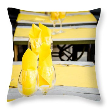 Throw Pillow featuring the photograph Yellow by Jason Smith