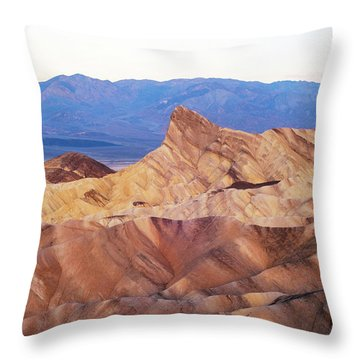 Throw Pillow featuring the photograph Zabriskie Point by Catherine Lau