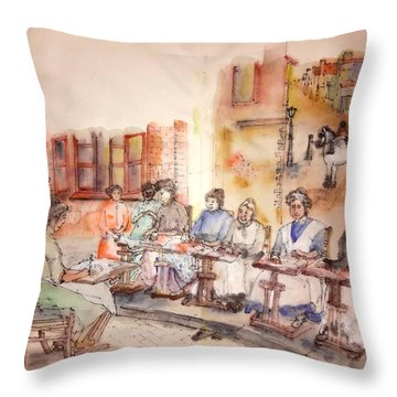 Of Clogs And Windmills Album Throw Pillow by Debbi Saccomanno Chan