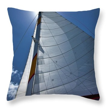 Sea And Clouds Throw Pillow