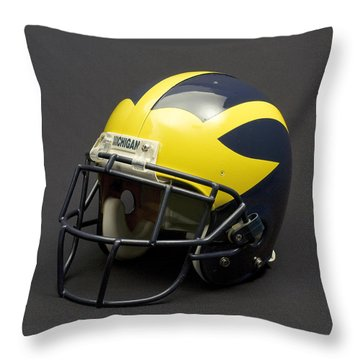 2000s Era Wolverine Helmet Throw Pillow