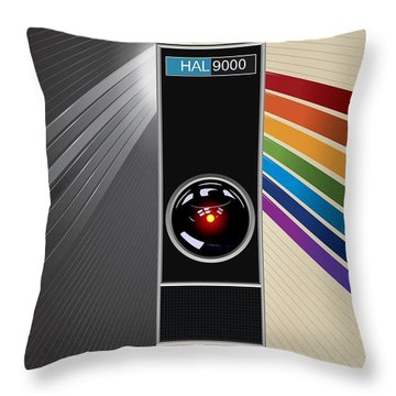 2001 A Space Odyssey Poster Print - No 9000 Computer Has Ever Made A Mistake Throw Pillow