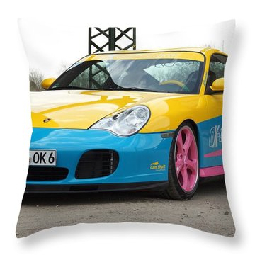 2002 Ok Chiptuning Manta Porsche 996 Turbo  1 Throw Pillow