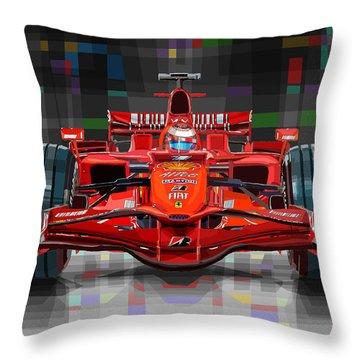 2008 Ferrari F1 Racing Car Kimi Raikkonen Throw Pillow