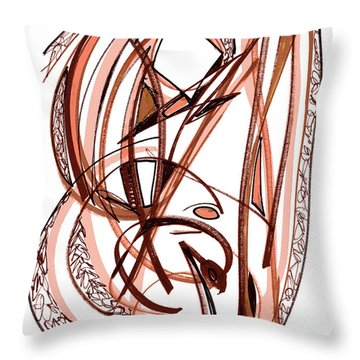 2010 Abstract Drawing Five Throw Pillow by Lynne Taetzsch