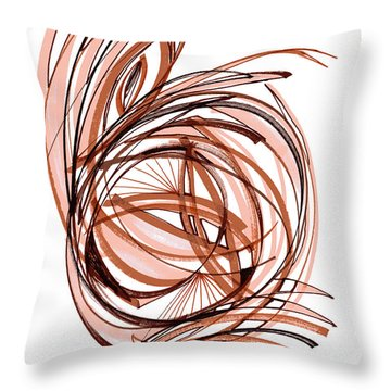 2010 Abstract Drawing Six Throw Pillow by Lynne Taetzsch