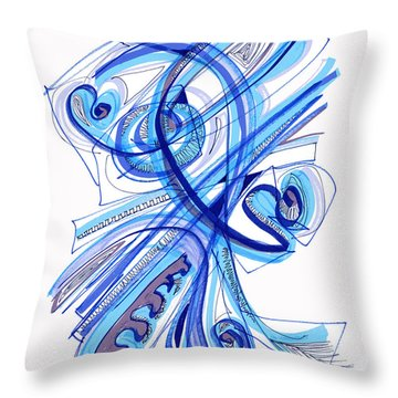2010 Drawing Four Throw Pillow by Lynne Taetzsch