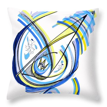 2010 Drawing One Throw Pillow by Lynne Taetzsch
