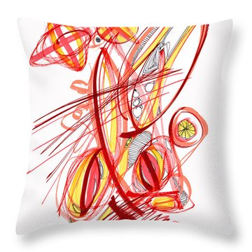 2010 Drawing Two Throw Pillow by Lynne Taetzsch