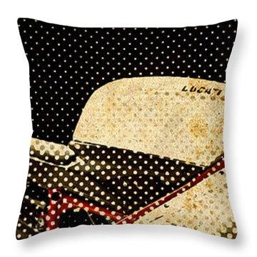2010 Ducati 1198s Big Newspaper Dots Throw Pillow