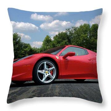 2012 Ferrari 458 Spider Throw Pillow